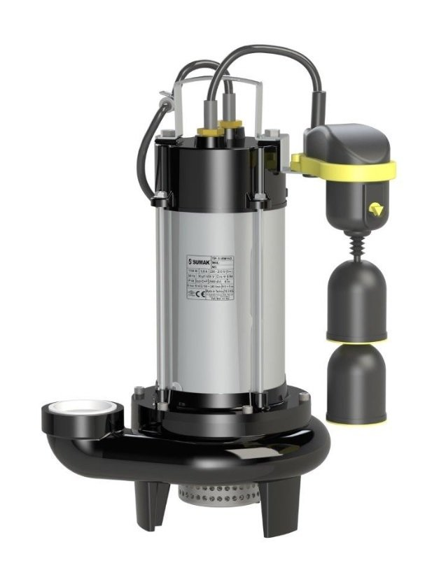 SDF 18/2Y-A Sumak Asansör Flatörlü Drenaj Dalgıç Pompası