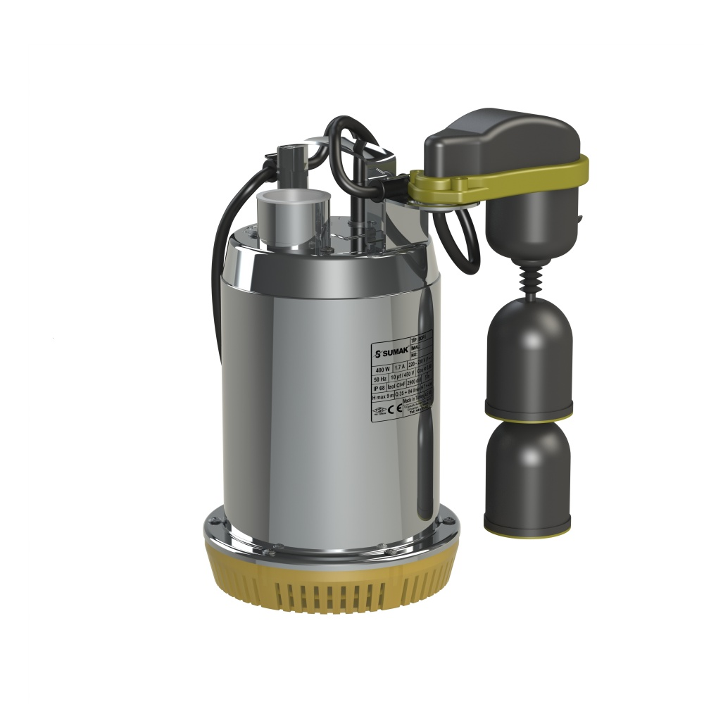 SDF 6A Sumak Paslanmaz Asansör Drenaj Dalgıç Pompası