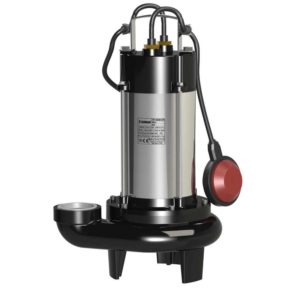 SBRM 18-2P Sumak Parçalayıcı Bıçaklı Dalgıç Pompası
